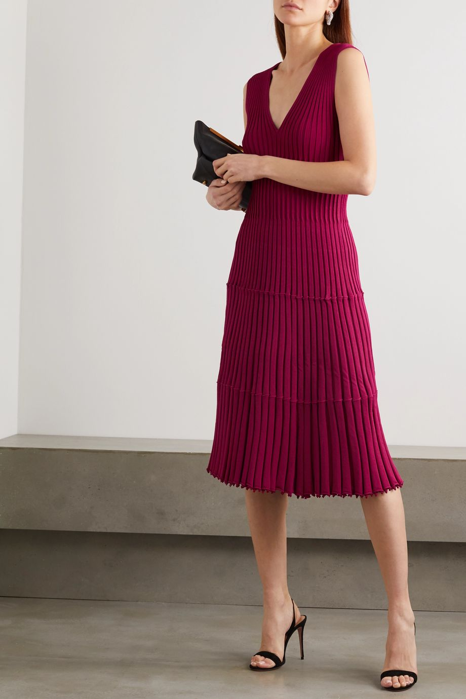 Altuzarra Riggs ribbed-knit dress