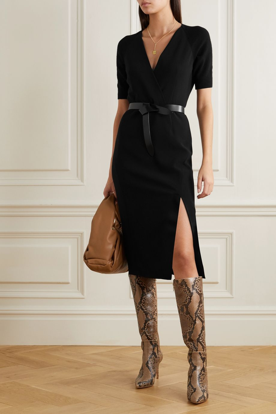 Altuzarra Carolina crepe and wool and cashmere-blend dress