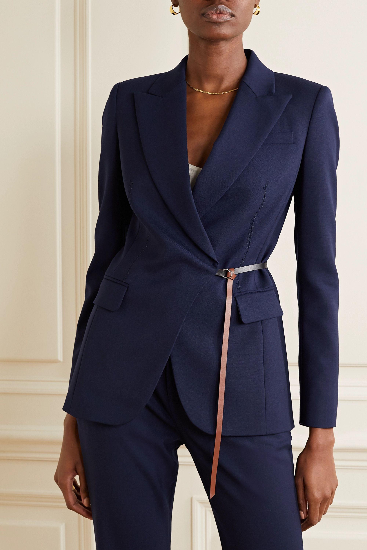 Altuzarra Irving belted wool-blend blazer