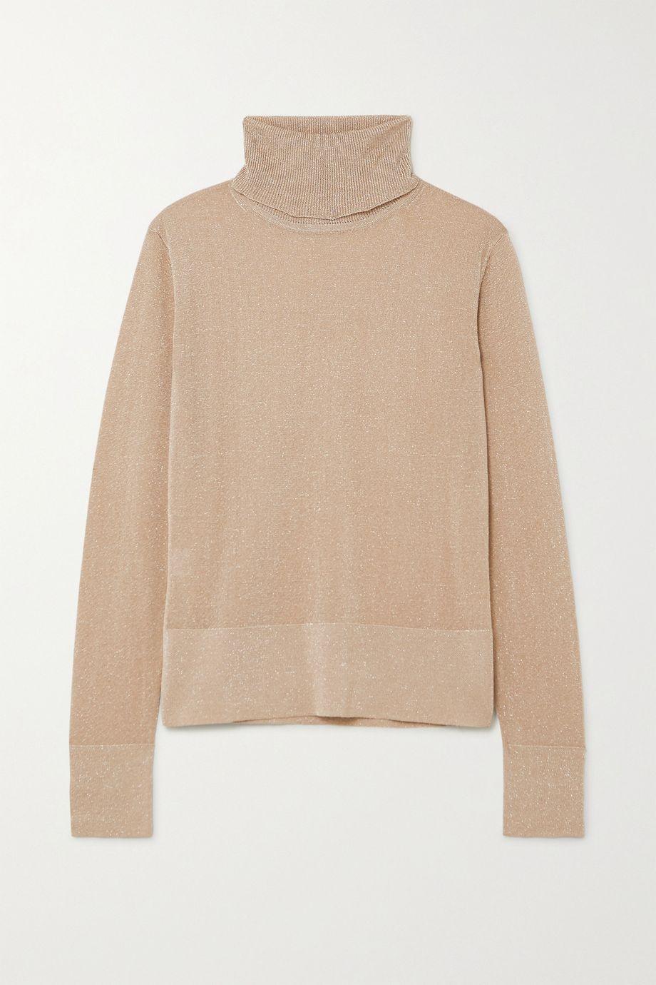 Altuzarra Lexia metallic knitted turtleneck sweater