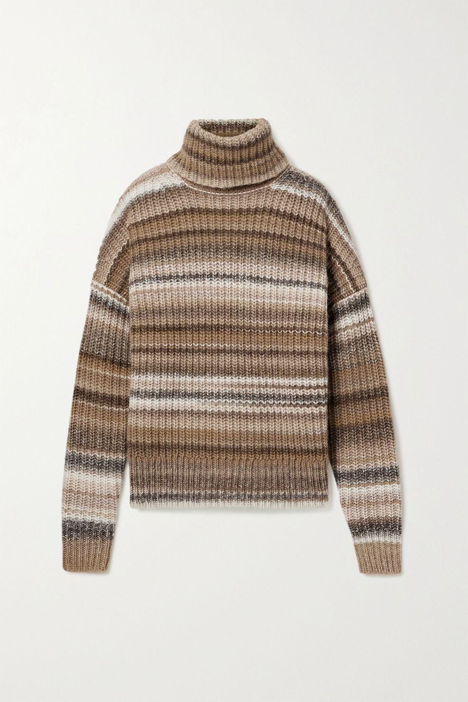 Altuzarra Kelley oversized striped wool-blend turtleneck sweater