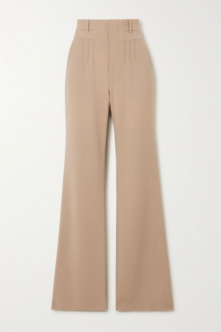 Altuzarra Zeke grain de poudre wool-blend flared pants