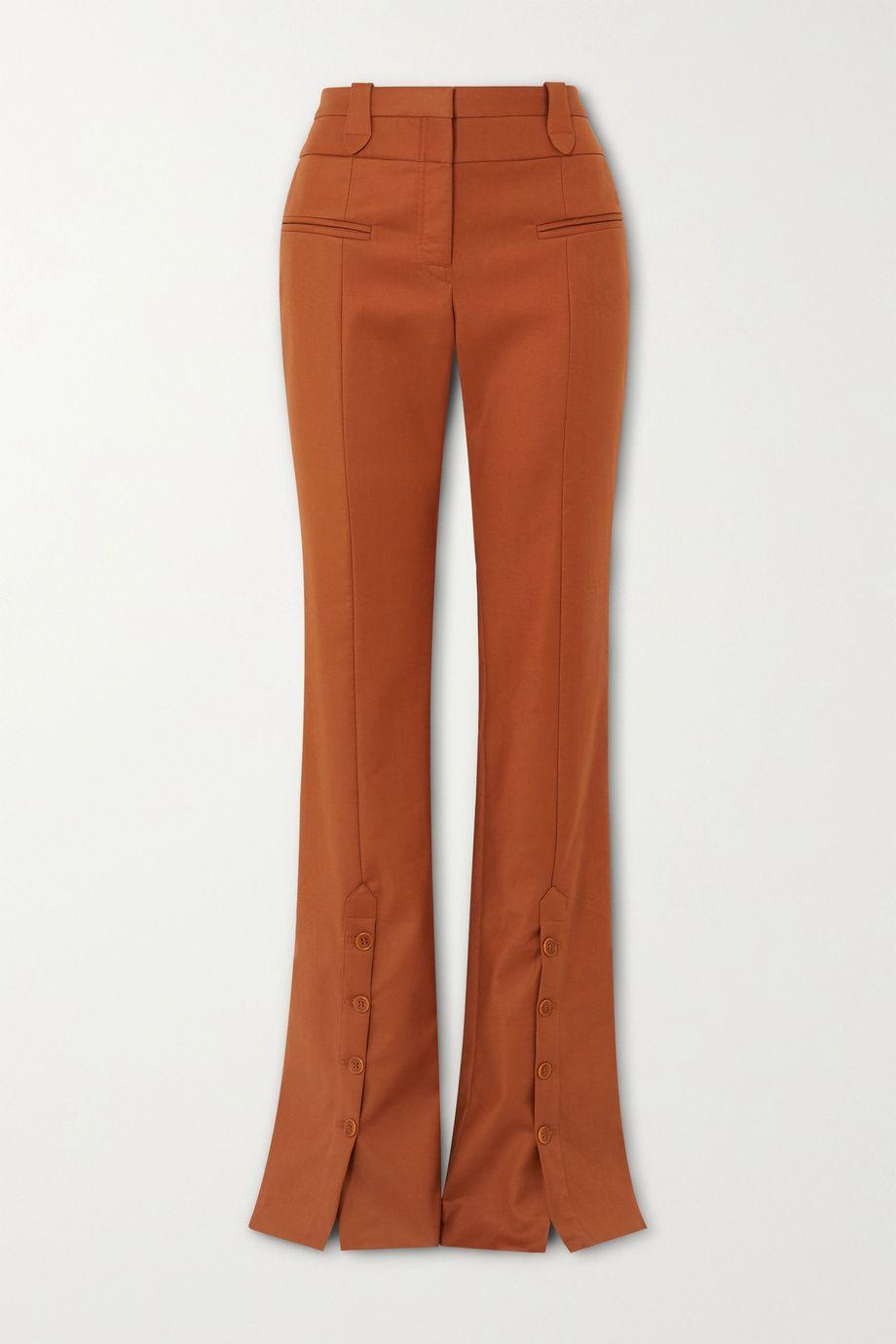 Altuzarra Ned cotton-blend twill flared pants