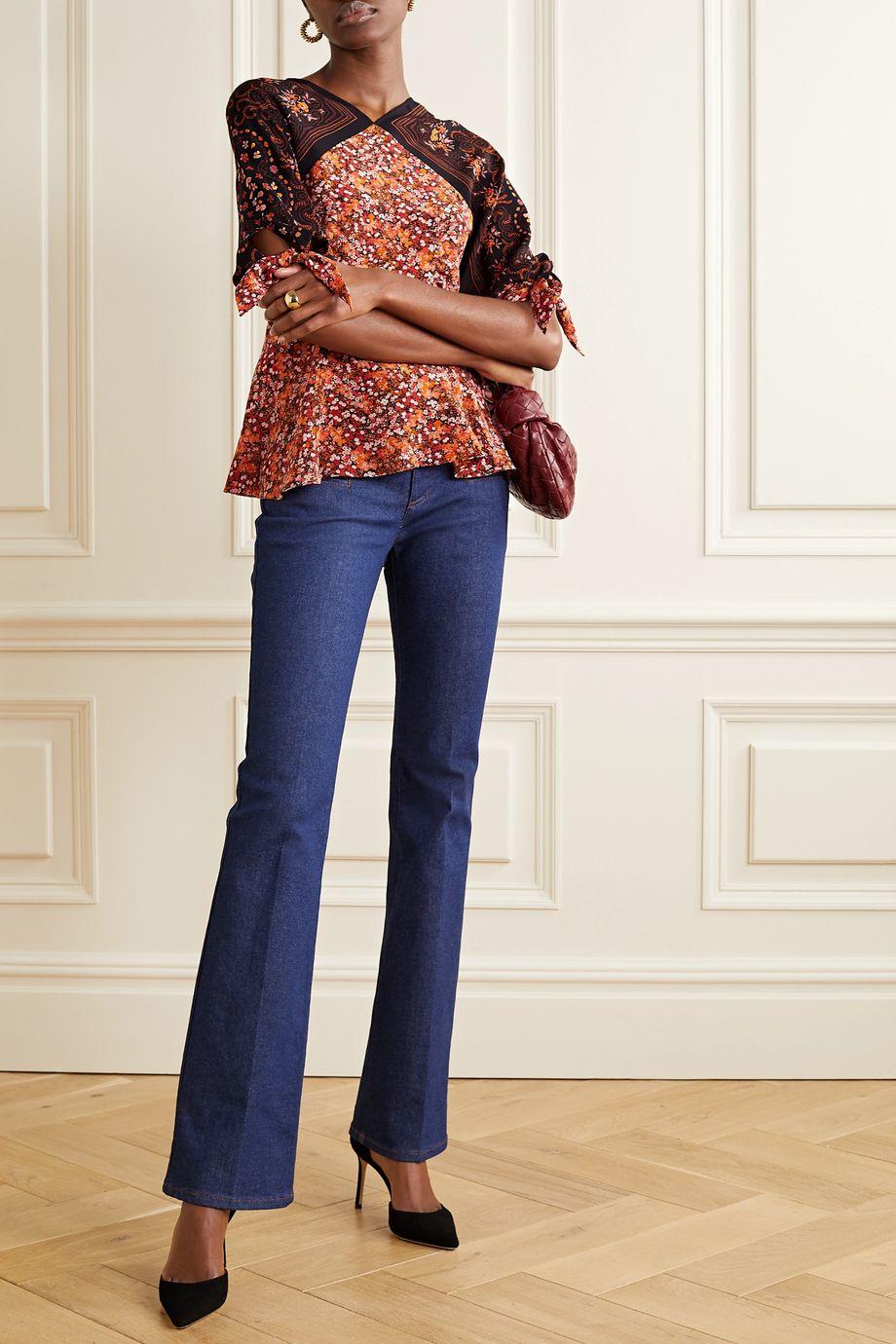 Altuzarra Charity tie-detailed floral-print silk crepe de chine blouse