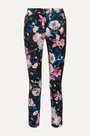 Sidney floral-print cotton-blend slim-leg pants