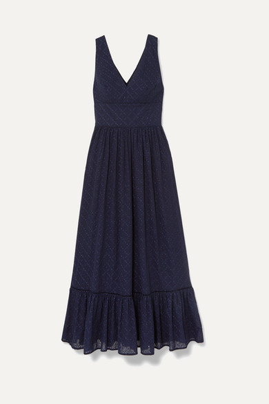 Heidi Klein Beachwear Tiered broderie anglaise cotton maxi dress