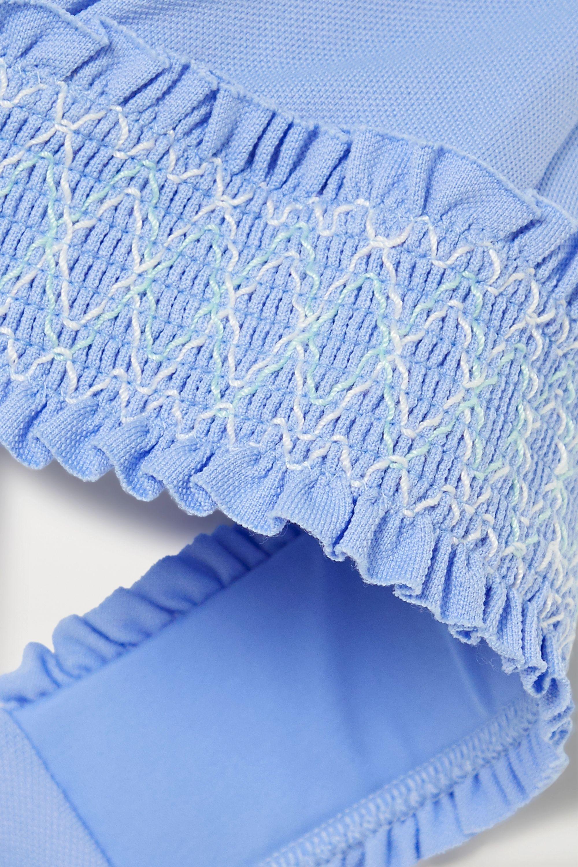 Heidi Klein Andalucia D-G smocked underwired halterneck bikini top