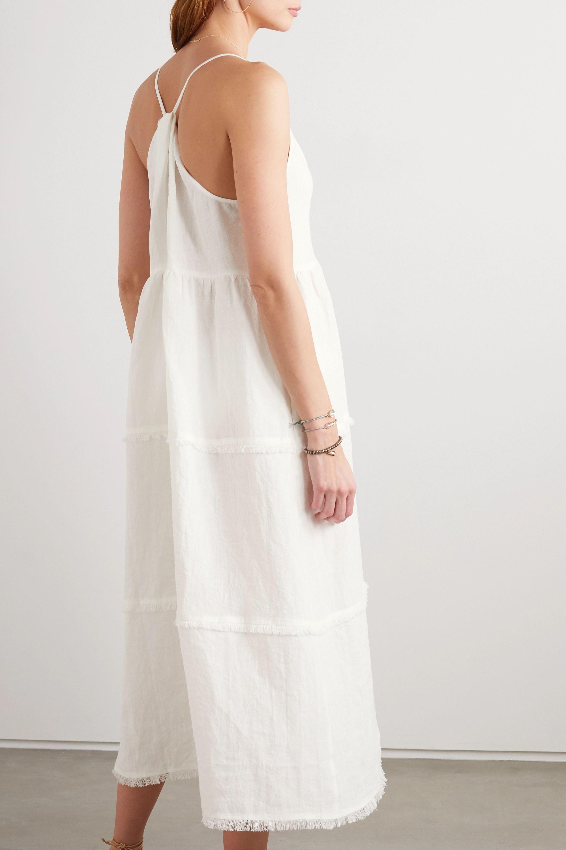 Heidi Klein Corsica frayed tiered linen midi dress