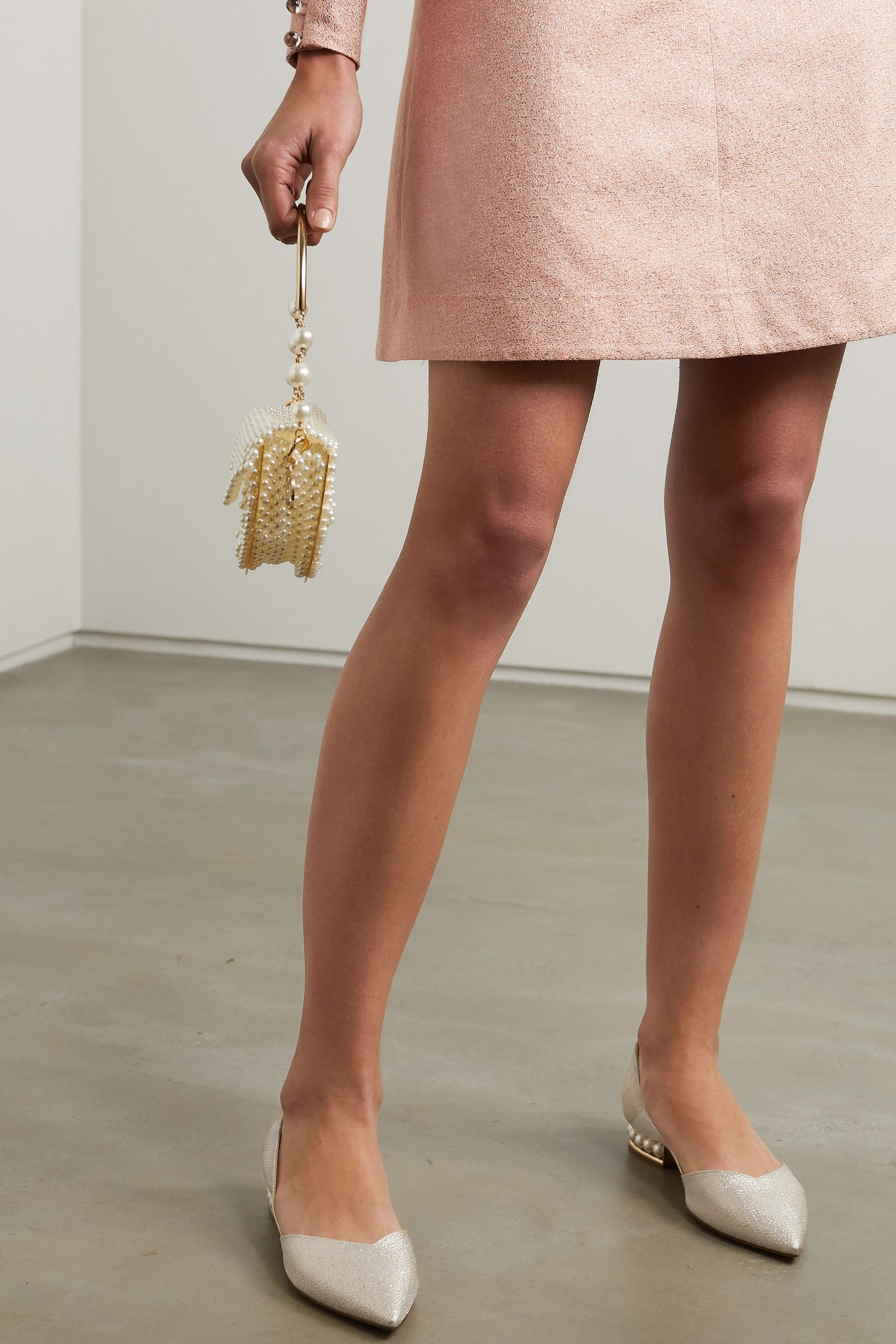 Gold Casati faux pearl-embellished