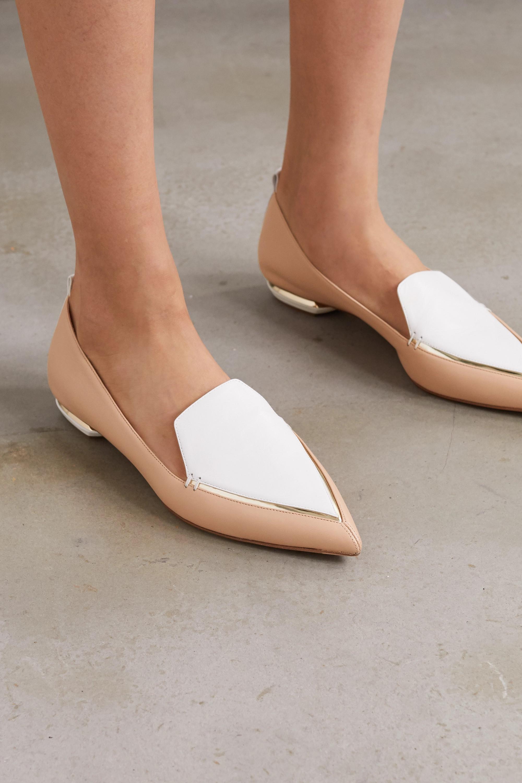 Beya two-tone leather point-toe flats