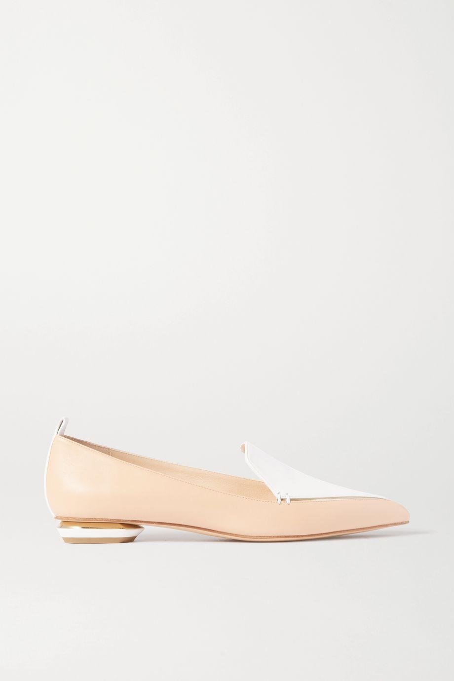 Nicholas Kirkwood Beya two-tone leather point-toe flats