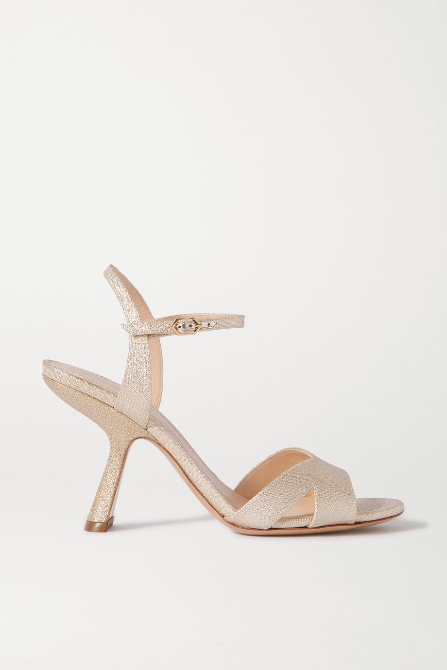 Nicholas Kirkwood Lexi metallic canvas sandals