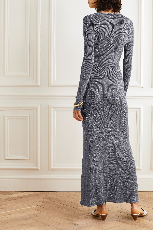 Lanvin Ribbed Lurex midi dress