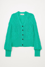 Lanvin Cable-knit cotton cardigan