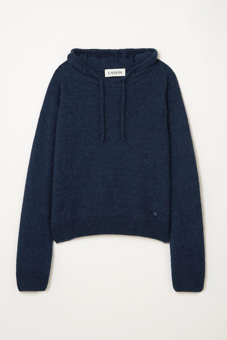 Lanvin Alpaca, cashmere and silk-blend  hoodie