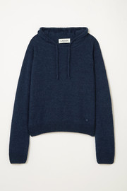 Lanvin Alpaca, cashmere and silk-blend  hoodie