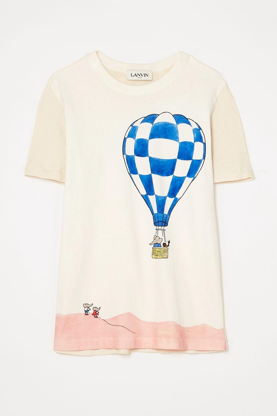 Lanvin Paneled printed cotton-jersey T-shirt