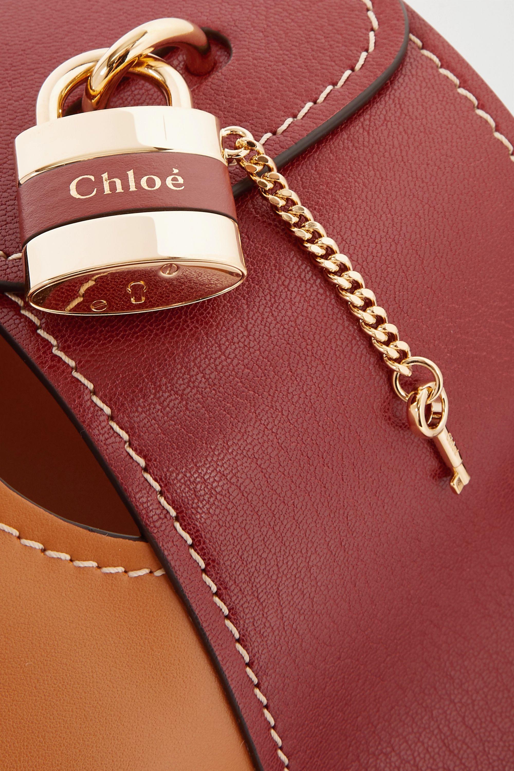 Chloé Sac à main en cuir bicolore Aby