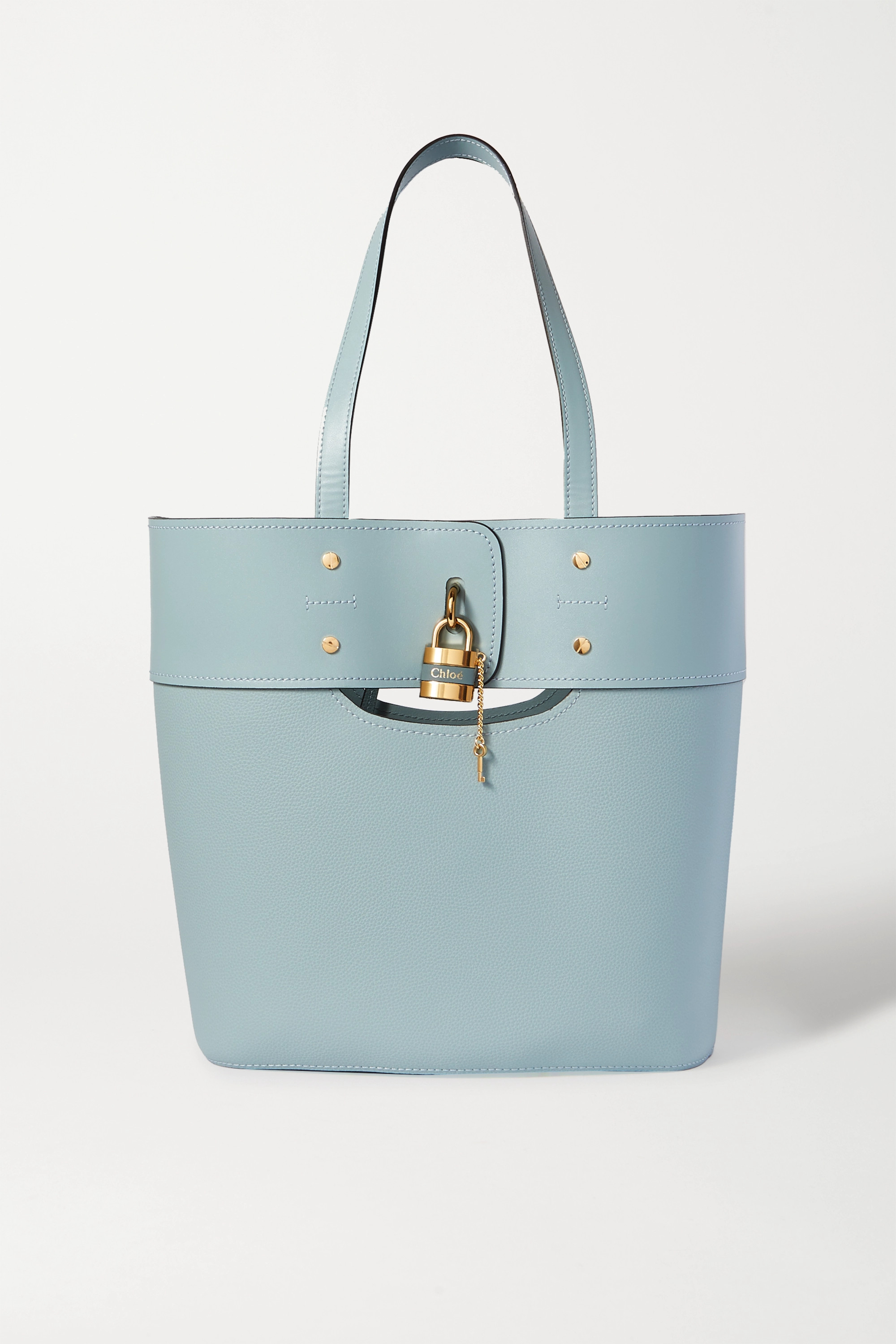 Chloé Aby medium smooth and textured-leather tote