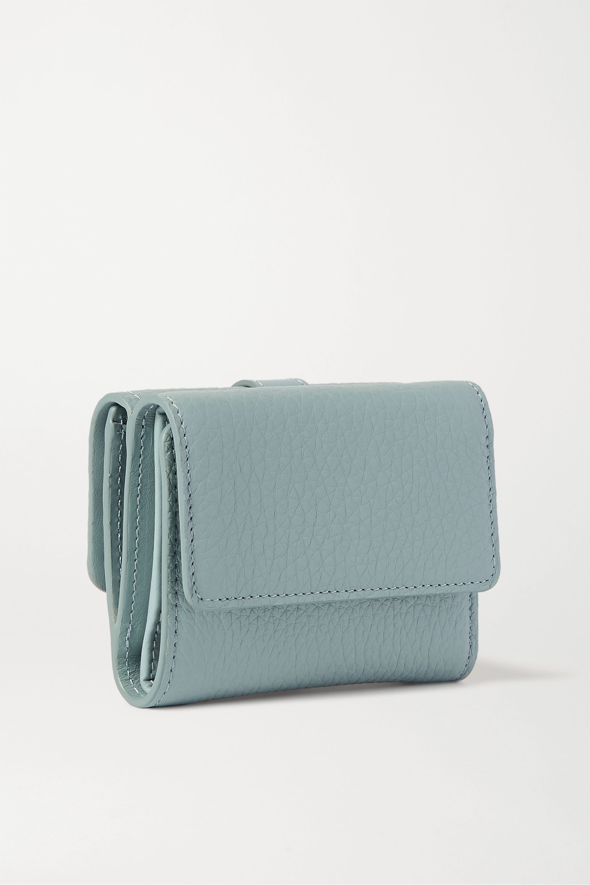 Chloé Aby textured-leather wallet