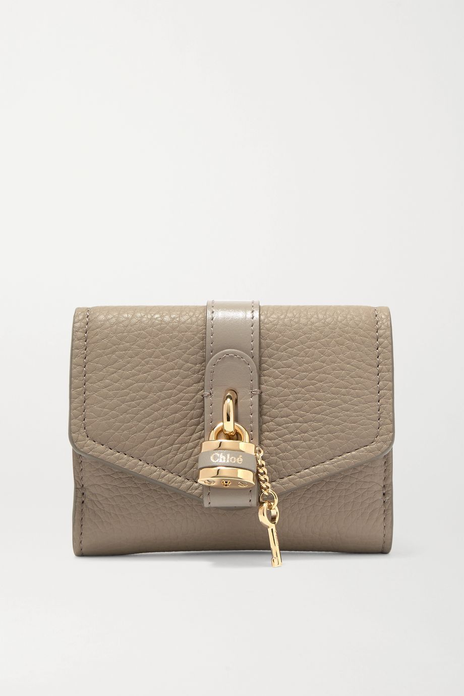 Chloé Aby embellished textured-leather wallet