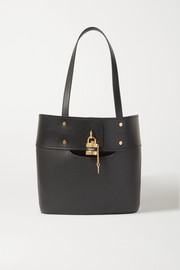 Aby textured-leather tote