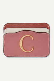 Chloé C color-block leather cardholder