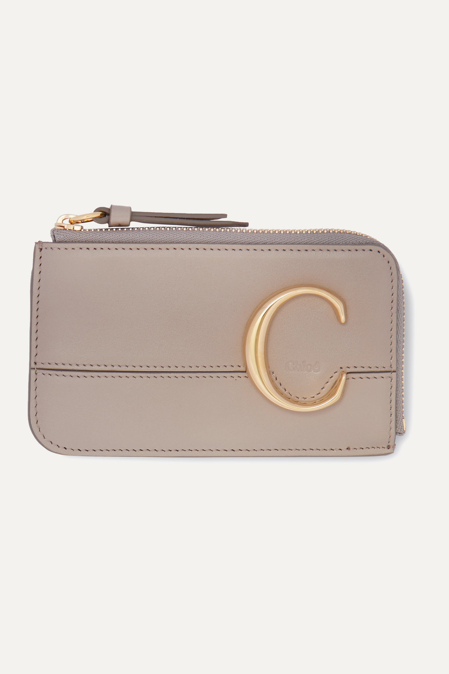 Chloé Porte-cartes en cuir Chloé C Small