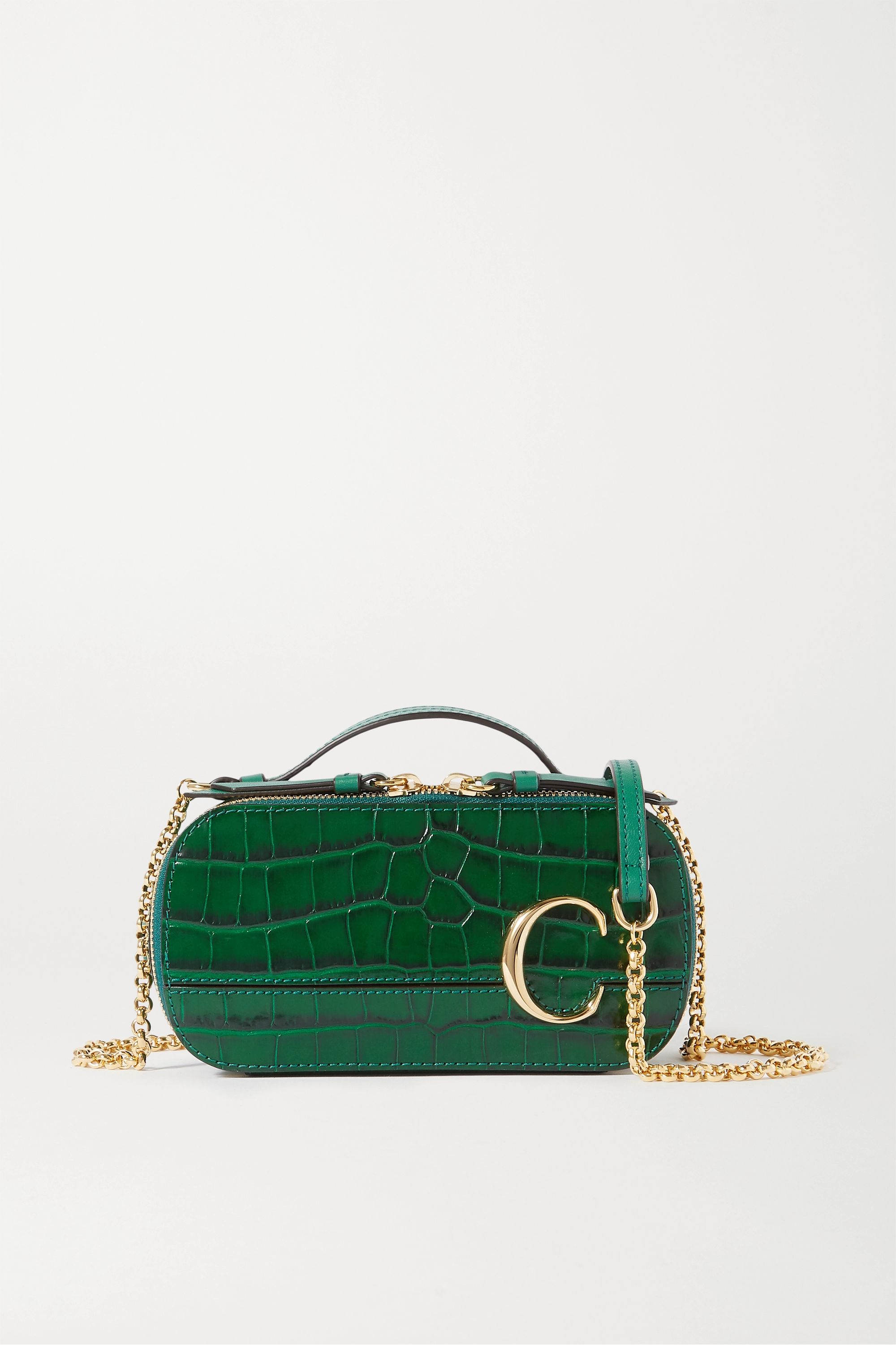Chloé Chloé C Vanity mini croc-effect leather shoulder bag