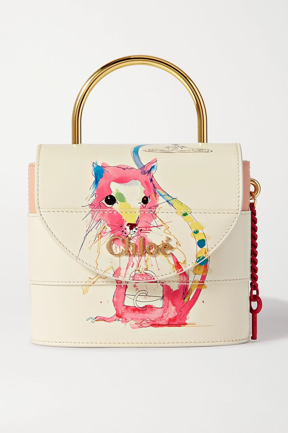 Chloé Aby Lock small printed leather shoulder bag