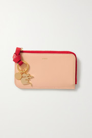 Chloé Alphabet two-tone leather cardholder