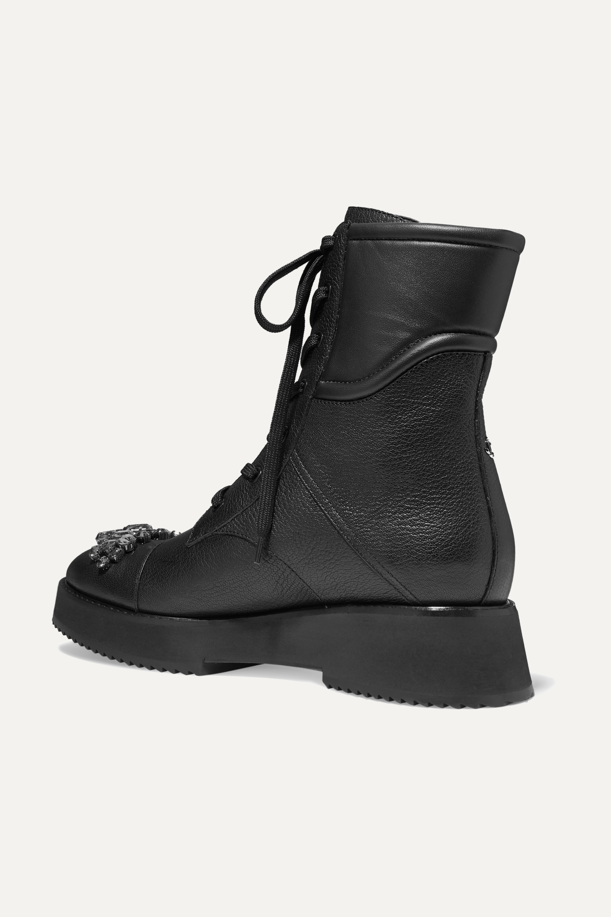 Jimmy Choo Hadley crystal-embellished leather ankle boots