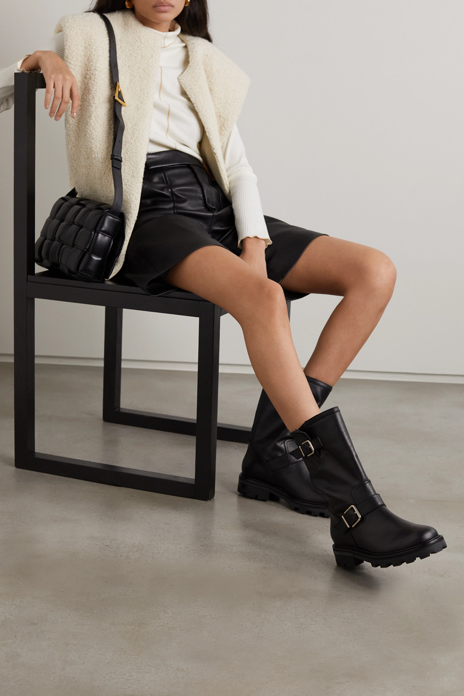Jimmy Choo Biker II leather boots