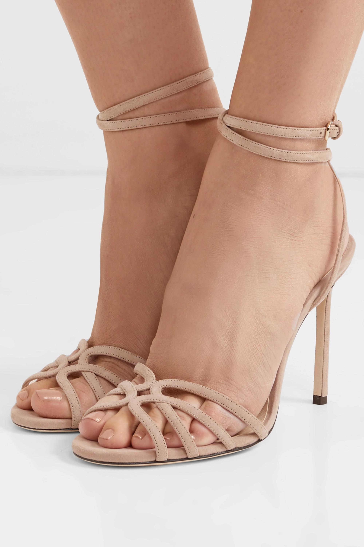 Antique rose Mimi 100 suede sandals
