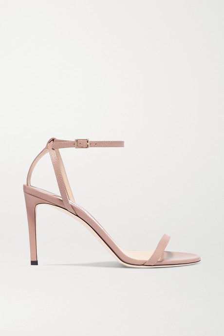 Antique rose Minny 85 leather sandals | Jimmy Choo aANbbv