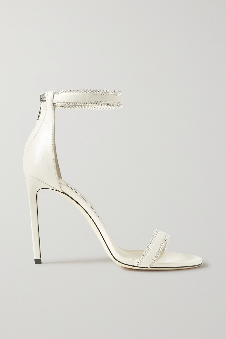 Jimmy Choo Dochas 100 crystal-embellished leather sandals