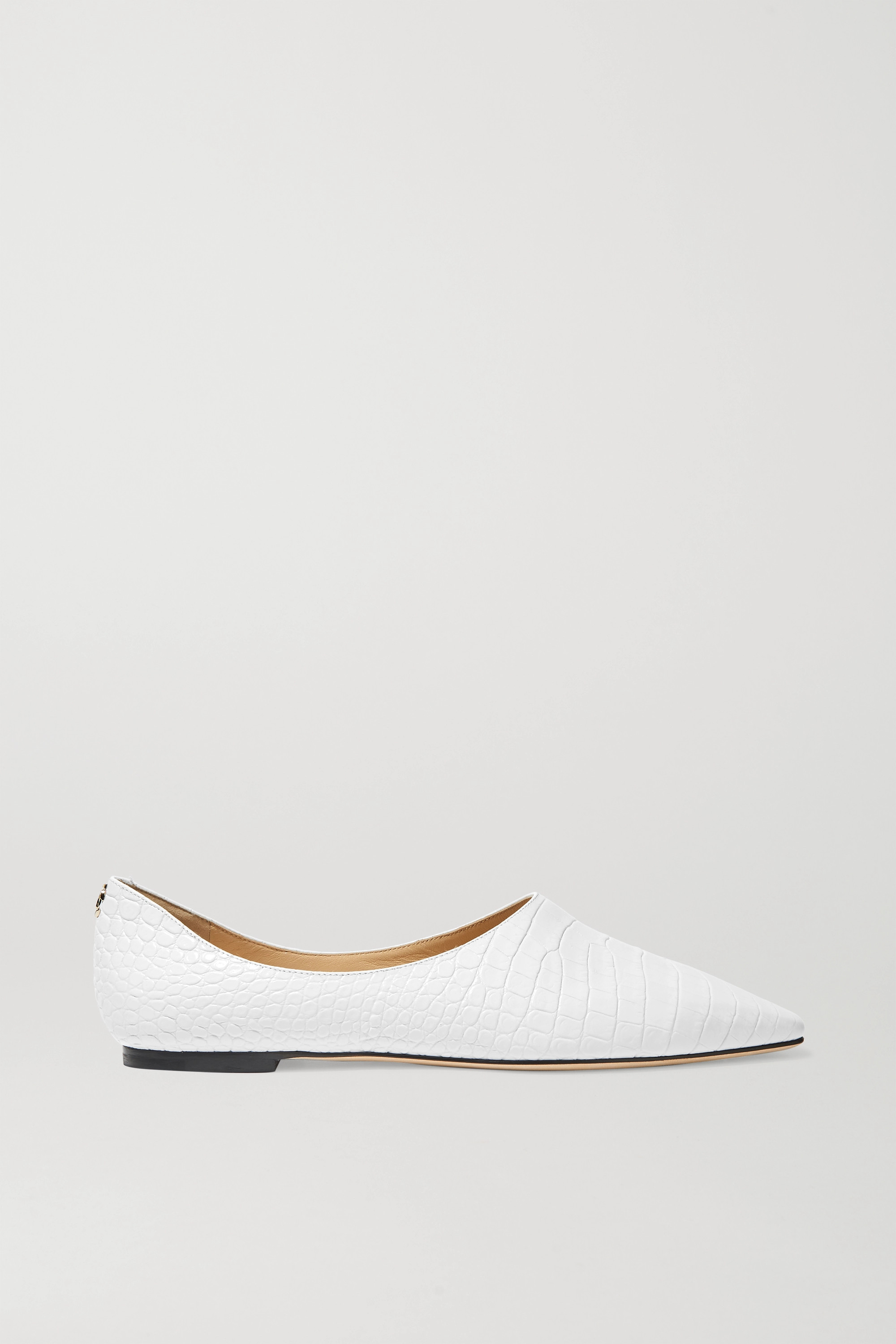 Jimmy Choo Joselyn croc-effect leather ballet flats