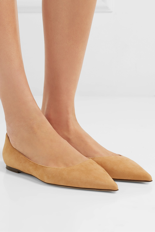 Jimmy Choo Love suede point-toe flats