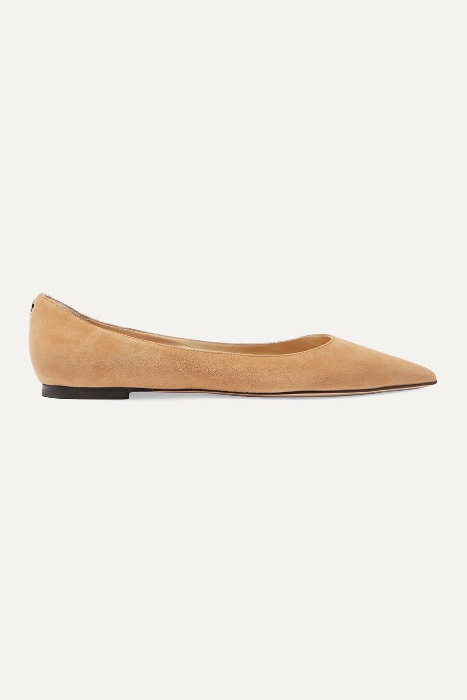 Jimmy Choo Love suede point-toe flats