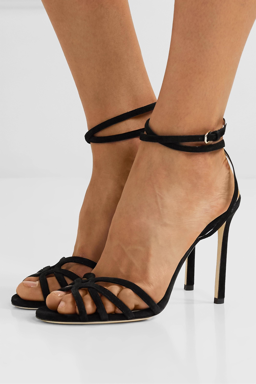 Jimmy Choo Mimi 100 suede sandals