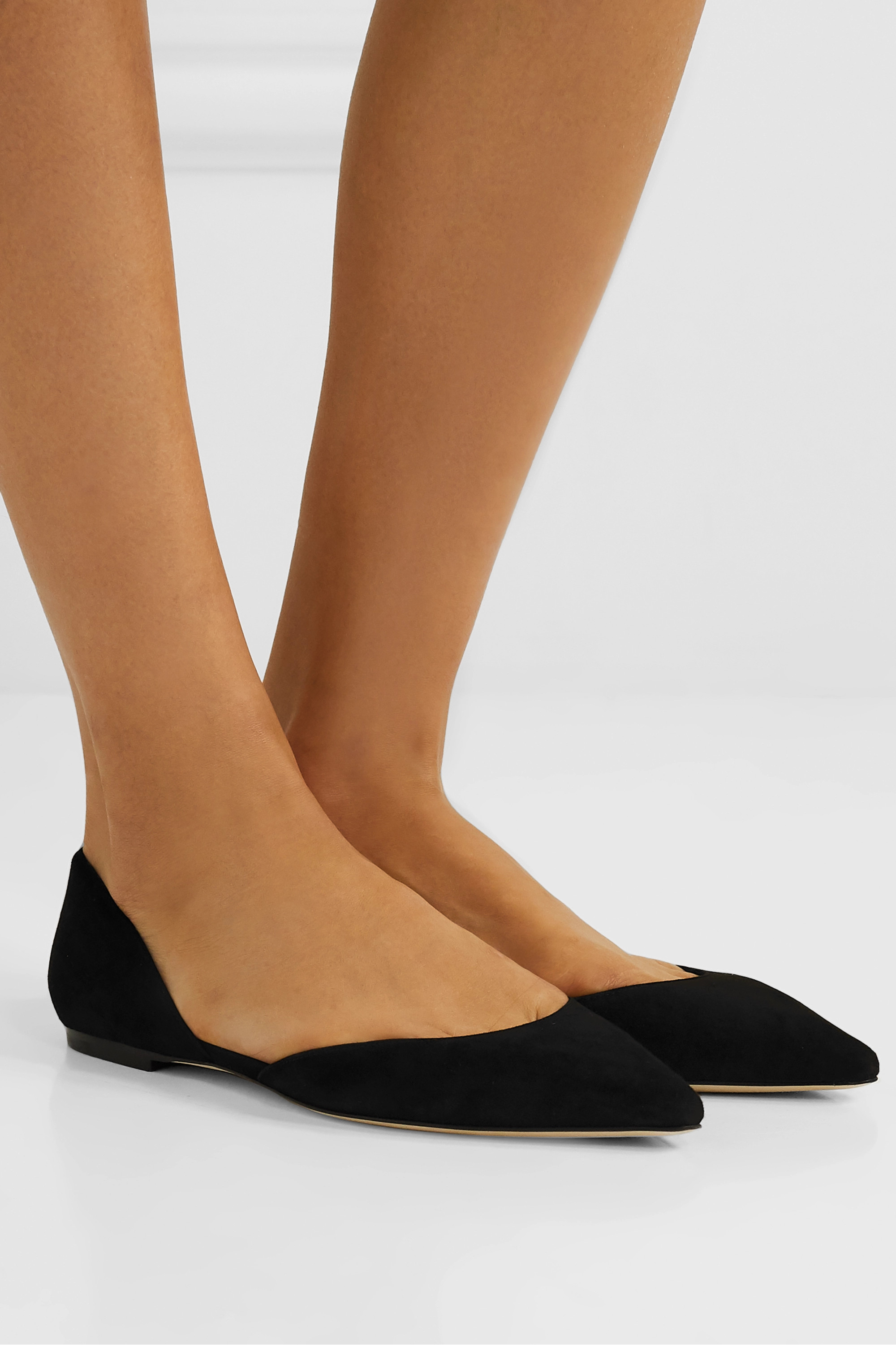 Black Esther suede point-toe flats