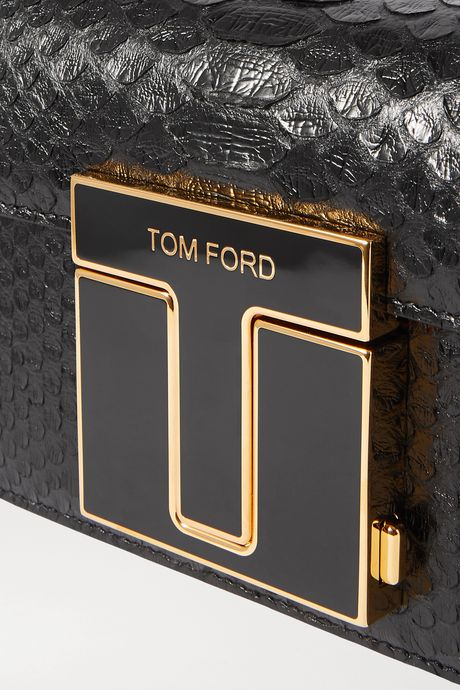 Black 001 small python shoulder bag | TOM FORD hv0KZ2