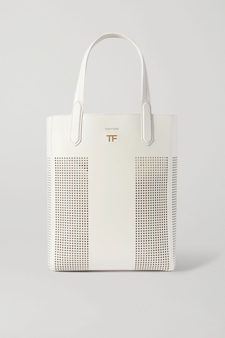 TOM FORD T small laser-cut leather tote