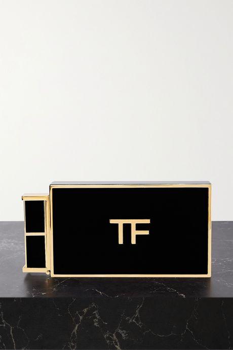 Black Lipstick small Plexiglas clutch | TOM FORD jYUKHA