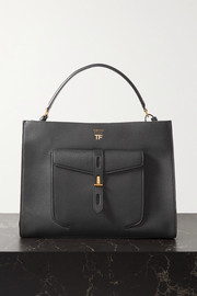 TOM FORD T Twist medium textured-leather shoulder bag
