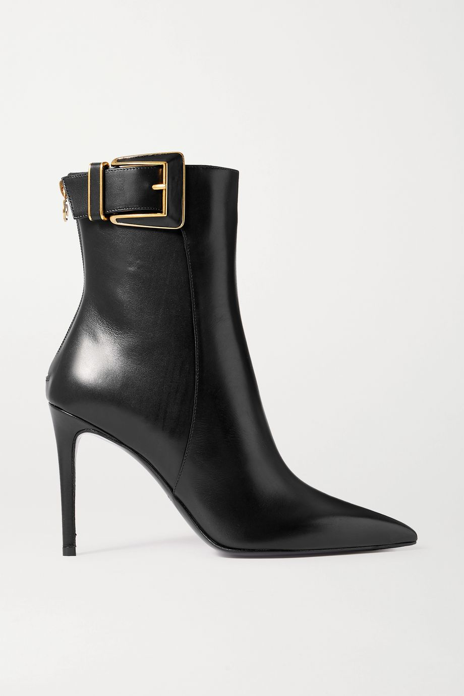 Balmain Payton buckled leather ankle boots