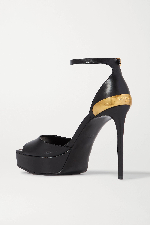 Balmain Pippa embellished leather platform sandals