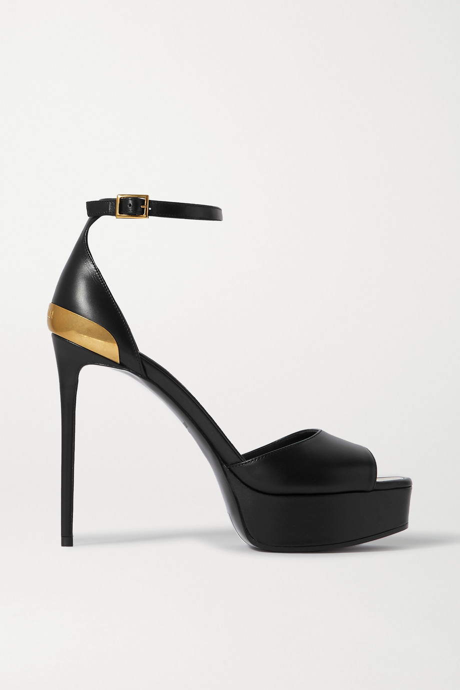 Balmain Pippa embellished leather platform sandals