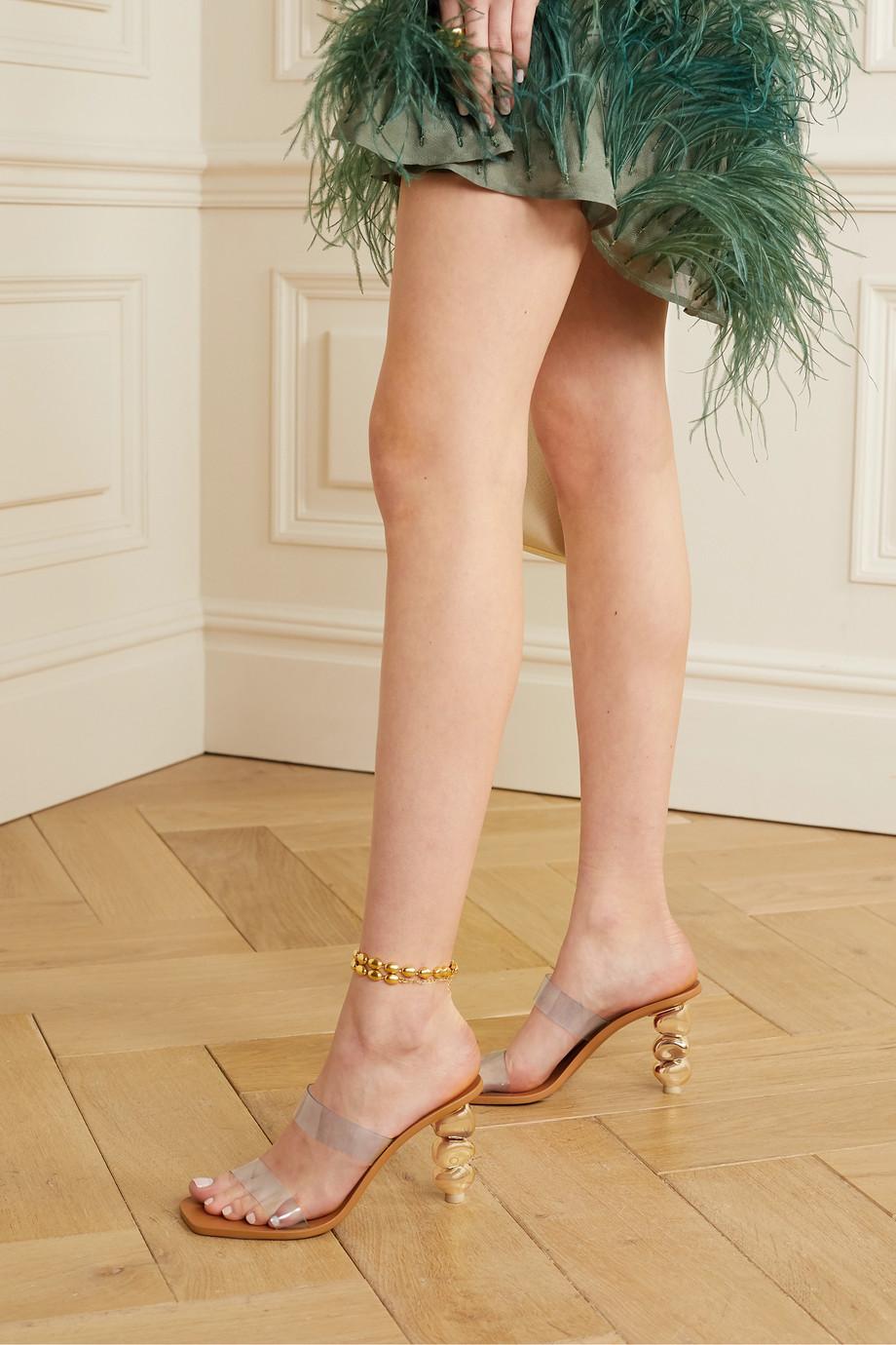 Cult Gaia Meta PVC sandals