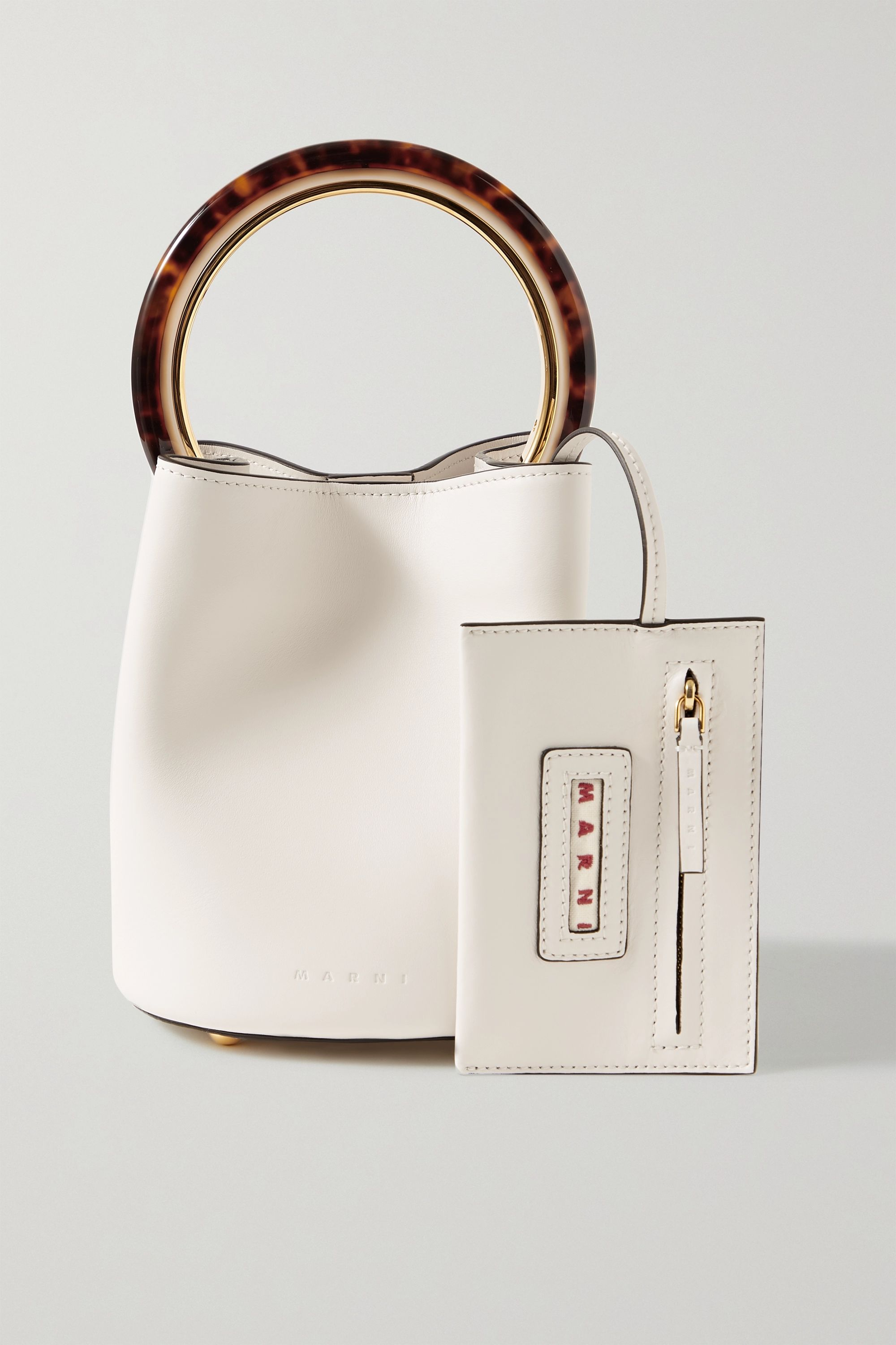 Marni Pannier small leather bucket bag